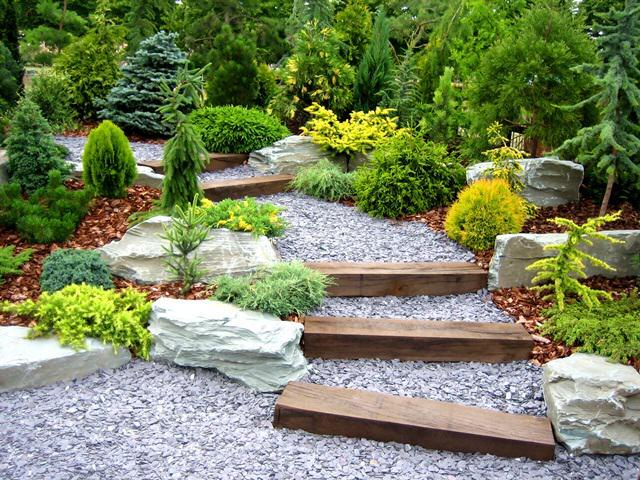 schody drewniano kamienne