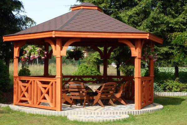 Aran acja ogrodu w 7 krokach - Holzpavillon aus polen ...